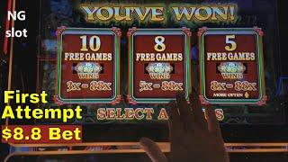 •NEW • 88 Fortunes Slot Machine •BIG WIN• •  Bonus !!! Live Play  with $8.8 Max Bet At San Manuel
