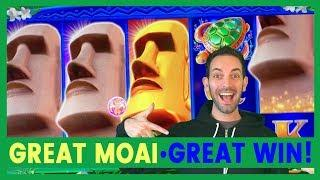 Great MOAI • Last Spin 100X WIN! • Slot Machine Pokies w Brian Christopher