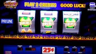 Triple Double Slot Jackpot! Triple Double Red Hot Strike Jackpot!!