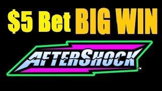 ★ BIG WIN! AFTERSHOCK SLOT MACHINE HIGH LIMIT LIVE PLAY! Best of $1 Denom Vegas 2015! (DProxima)