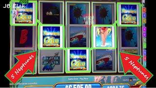 5 Hunt For Neptune's Gold JACKPOT HANDPAY & OTHER PLAY.  JB Elah Slot Channel VGT Slots Choctaw USA