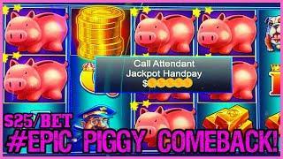 ⋆ Slots ⋆Lock It Link Piggy Bankin' HANDPAY JACKPOT ⋆ Slots ⋆HIGH LIMIT $25 MAX BET Bonus Round Slot