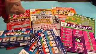 20x CASH Scratchcards..&CASH VAULT..9x LUCKY..FAST 500..LUCKY LINES..250,000 PINK..PAYDAY