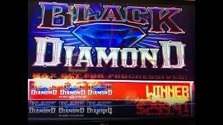 HUGE JACKPOT•Black Diamond $0.25 Slot Max Bet $6.75/Hand Pay  Almost $7,000 San Manuel, Akafujislot