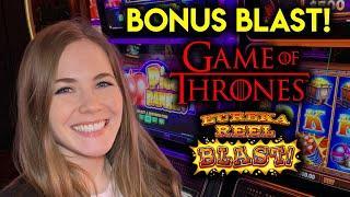 Hitting Those Eureka BONUSES! Eureka Reel Blast Slot Machine!