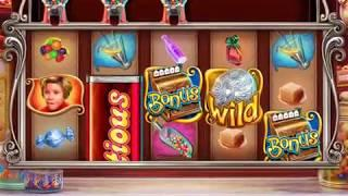 """WILLY WONKA: CANDY MAN CAN Video Slot Casino Game with a """"BIG WIN"""" RETRIGGERED FREE SPIN BONUS"""