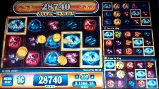 Gems Gems Gems Slot Machine *VERY RARE* 12x Multiplier BIG WIN Bonus!