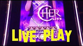 CHER LIVE Live Play at Max Bet $4.00/SPIN BALLY Slot Machine The Cosmopolitan