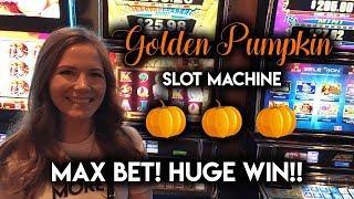 MONSTER WIN on Golden Pumpkin Slot Machine! What a Surprise!
