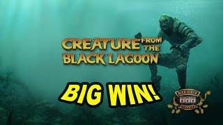BIG Base Game Hit on Creature from the Black Lagoon Slot - £1.60 Bet