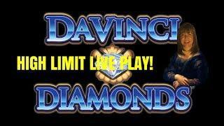 HIGH LIMIT! DAVINCI DIAMONDS SLOT MACHINE-LIVE PLAY