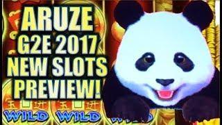 •ARUZE | 2017 G2E NEW SLOTS PREVIEW!• XTREME PANDA & SUPER SUN Slot Machine Bonus