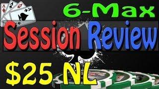 Texas Holdem Poker Online - Session Review 25nl 6 Max Cash Hold em - Online Poker Coaching Bovada