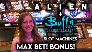 Giving The Buffy Slot Machine One More Try! Max Bet Bonus!