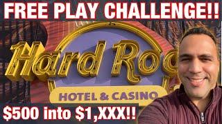 $500 FREE PLAY CHALLENGE • •   China Shores •   Liberty Link •   Mighty Cash LAS VEGAS   • •