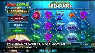 Atlantean Treasures Mega Moolah Slot by Neon Valley Studios & Microgaming