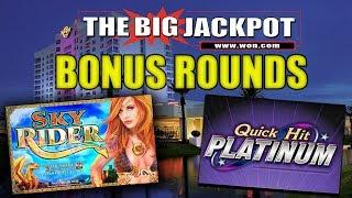•️ SKY RIDER & QUICK HIT BONUS WIN$ •️ 35 FREE GAMES!