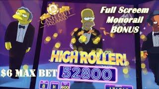 $impsons Slot Handpay territory WIN!!! 6 Max BET! *High Roller Wins* Magic at Morongo Casino!!!