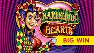 BIG WIN BONUS! Harlequin Hearts Slot - RETRIGGER, YES!