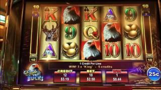 •ANY LUCK ? Free Play Slot Live Play (15)•EAGLE BUCKS (.25¢denom) & CASH CAVE •$2.50 Bet