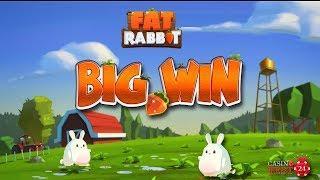 BIG WIN ON THE NEW FAT RABBIT SLOT (PUSH GAMING) - 3€ BET!