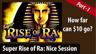 Part:1  Super Rise of Ra by Bally 3 Bonuses Minimu - $1.10 Bet at Barona Casino • mannysslotchannel1