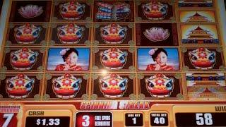 China Moon 2 Slot Machine Bonus - 8 Free Games with Spinning Streak + Progressive Jackpot - HUGE WIN