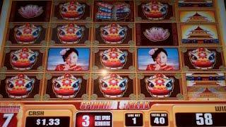 China Moon 2 Slot Machine Bonus - 8 Free Games with Spinning Streak + Progressive Jackpot - HUGE WIN