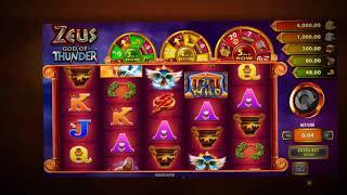 Zeus God of Thunder Online Slot from WMS Gaming - Jackpot Bonus  & Free Spins Feature!