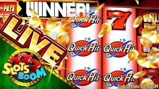 QUICK HIT WILD RED LIVE BONUSES  !!! & PLAY 2c Bally Video Slots