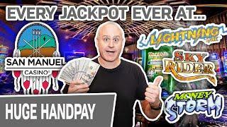 ⋆ Slots ⋆ No WAY! EVERY Jackpot I've EVER Hit @ San Manuel Casino ⋆ Slots ⋆ Lightning Link, Money Storm, Sky Rider!