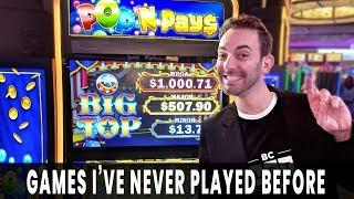 • NEW GAMES! • Pop N Pays BIG TOP Brings BIG WINS • Choy's Fortune is OUR FORTUNE