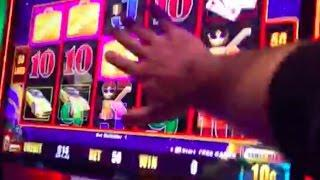 Don't slap the screen Neil!! LOTS and LOTS of LIGHTNING LINK slot machine bonuses
