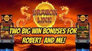 BIG WINS ON DRAGON LINK FOR ROBERT AND ME!