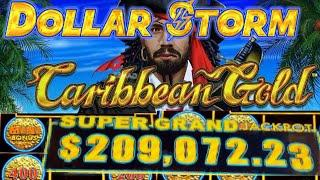 •DOLLAR STORM CARIBBEAN GOLD• HOLD & SPIN | FREE SPINS | LIVE PLAY