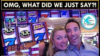 YOU WON'T BELIEVE YOUR EARS! We have NO FILTER while WINNING on TRIPLE DOUBLE DAZZLE SLOT MACHINE!
