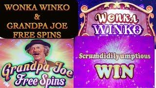 World of Wonka - Wonka Winko & Grandpa Joe Free Spins Big Win !