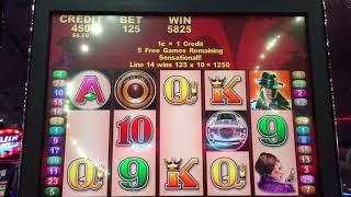 Aristocrat AGENT M Slot Machine Bonus Nice Win!