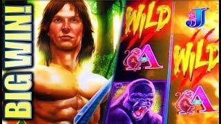 •BIG WIN! TARZAN GRAND• •LET'S SEE THOSE WILDS! Slot Machine Bonus (Aristocrat)