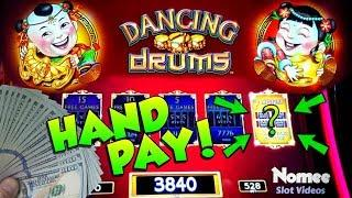 "•JACKPOT HANDPAY!!• DANCING DRUMS Slot Machine - ""MYSTERY PICK"" PAYS BIG TIME!!!••"