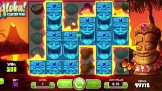 NETENT Aloha Cluster Pays slot REVIEW Featuring Big Wins With FREE Coins