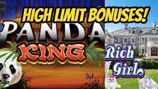 WINNING ON HIGH LIMIT PANDA KING & SHE'S A RICH GIRL