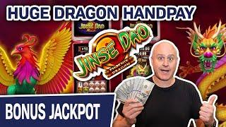 ★ Slots ★ HUGE DRAGON HANDPAY ★ Slots ★ Jinse Dao Dragon AND Phoenix BOTH Pay Out
