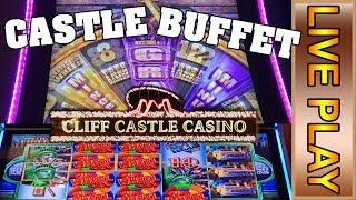 Castle Buffet ft. Buffalo Grand, 88 Fortunes, Mega Vault, Super Wheel Blast, and Quick Hit!