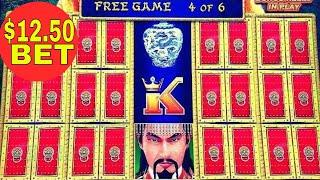 •NEW Lightning Link• Dragon Link Slot Machine $12.50 & $7.50 Free Games Won !High Limit Denomination