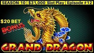 High Limit GRAND DRAGON Slot Machine $20 Bet Bonus & $45 a Spin JIN LONG 888 | SE 10 | Episode #12