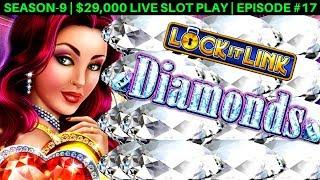 Lock It Link Diamonds Slot Machine Live Play & $10 Bet Bonus | Season 9 | Episode #17