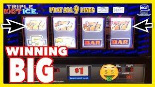 WINNING BIG • on High Limit IGT Triple Hot • Ice •️ Slot - Turning $100 into $1,000 •