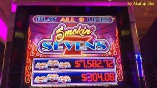 Slot Play•December 15th at San Manuel Casino• Part 1 of 3 [Smokin' Sevens] [カジノ] [赤富士スロット] Everi