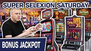 ⋆ Slots ⋆ Double Handpay Jackpots! ⋆ Slots ⋆⋆ Slots ⋆ It's a SUPER SELEXION SATURDAY